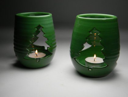 Cutout Candle Holder